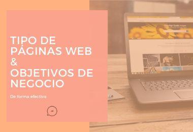 Tipos de páginas web según objetivo