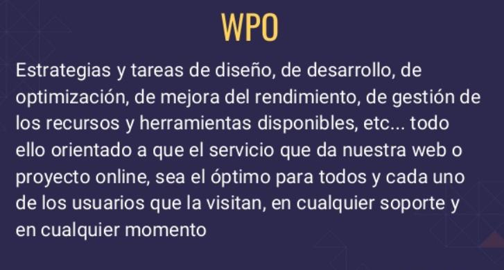 WPO que es y herramientas SEO para mejorar el WPO