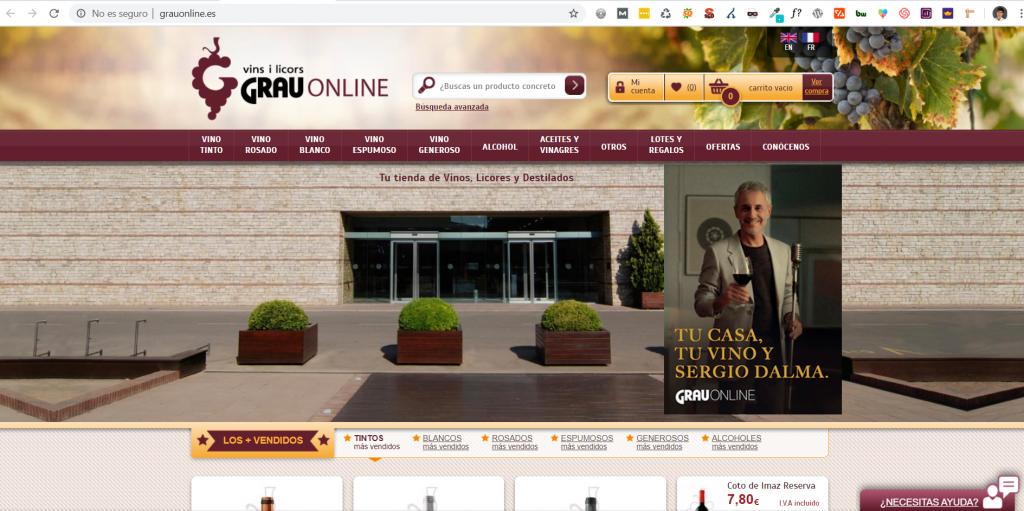 Caso práctico de SEO para Ecommerce paa la venta de vinos online