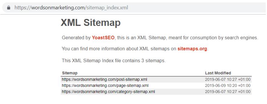 ejemplo de sitemap.xml en wordpress