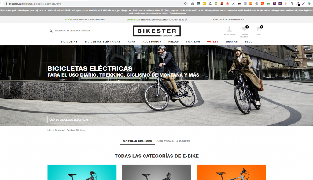 Posiconar para bicicletas electricas