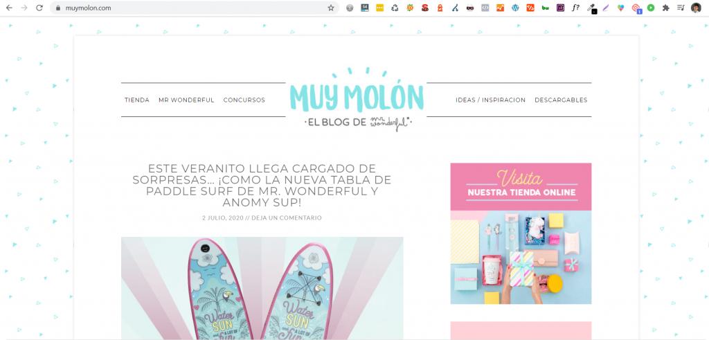 Muymolon blog de Mr.wonderful caso seo
