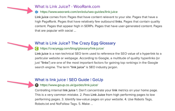 Favicons para el SEO y branding en Google