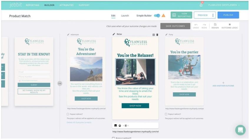 Jebbit: cuestionarios de productos personalizados